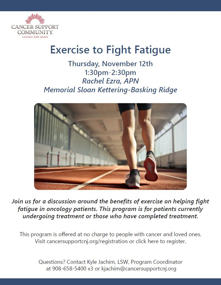 Exercise to fight fatigue