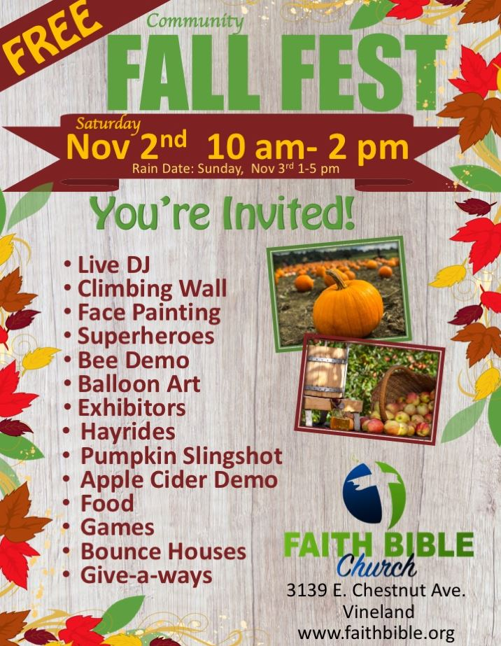 Faith Bible fall fest