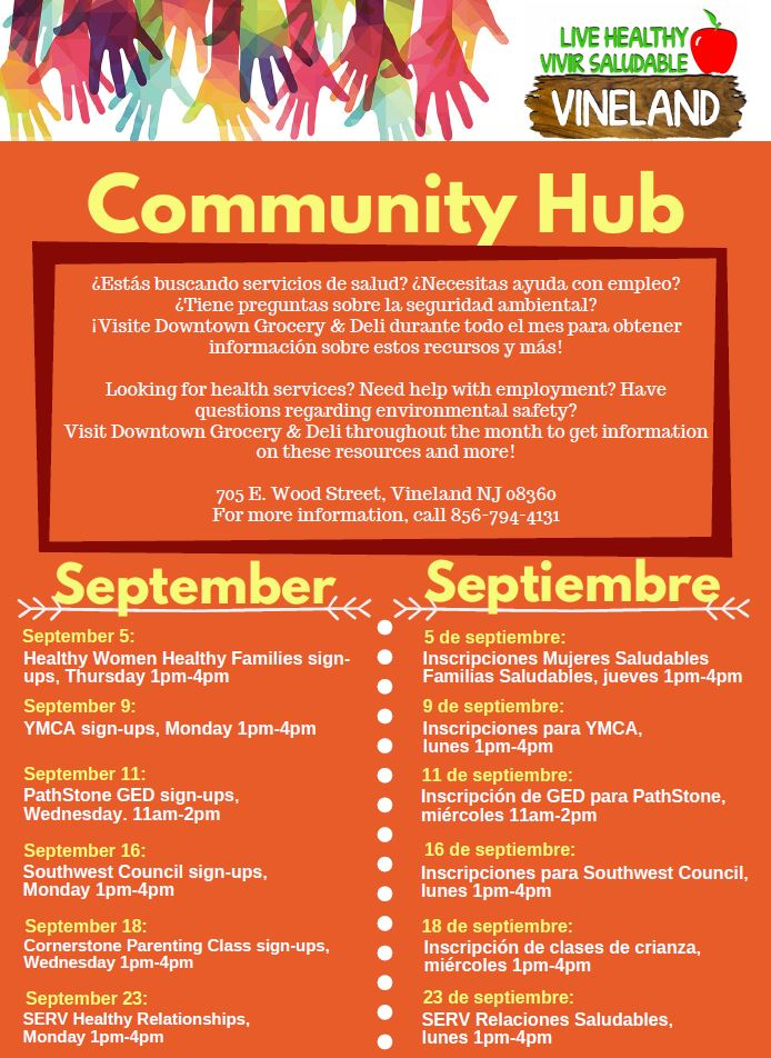 Vineland Community hub sept